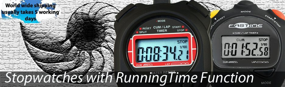 Running Time Stopwatches
