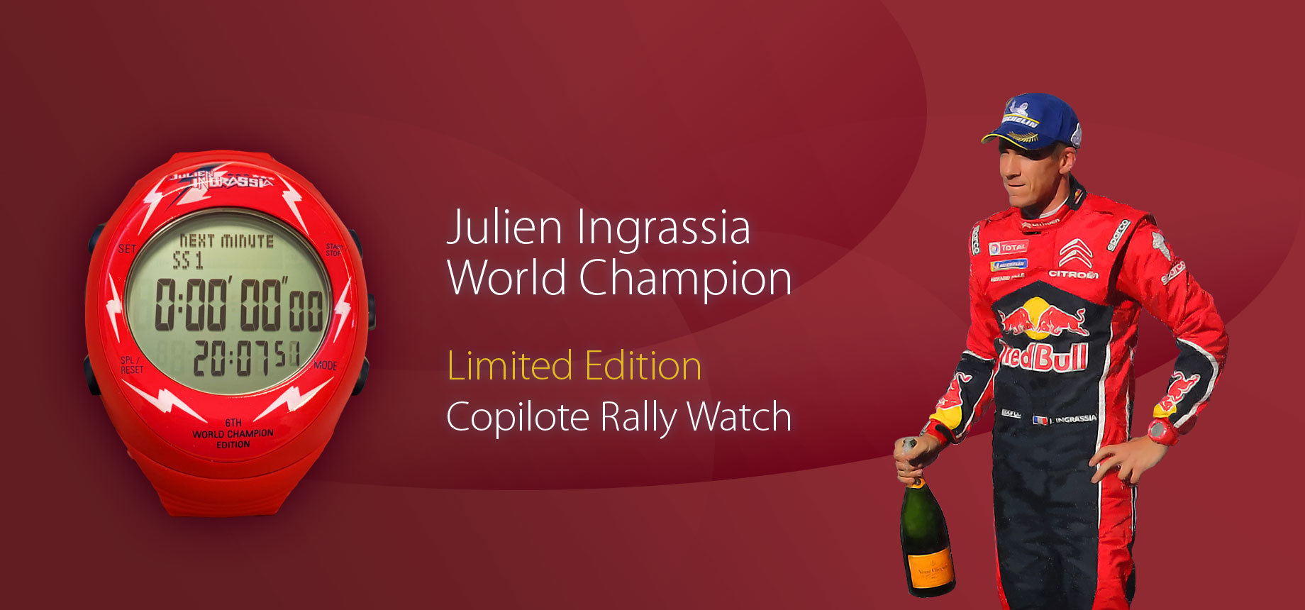 Julien Ingrassia 2016 Limited Edition Copilote Rally Watch