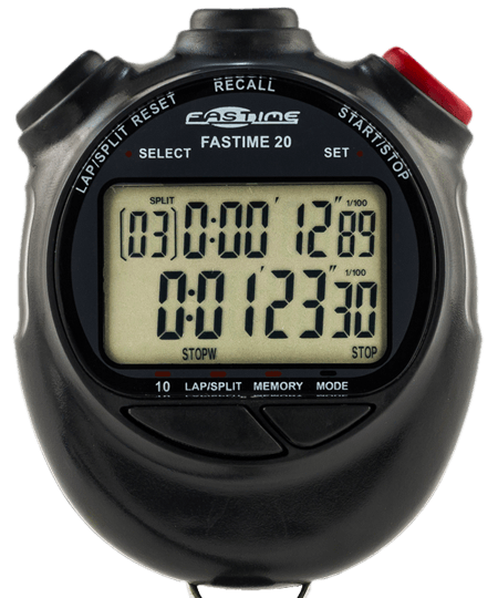 Dual Display 10 lap memory Stopwatch