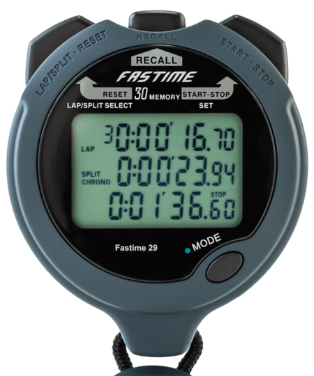 Professional 30 Lap Memory Stopwatch