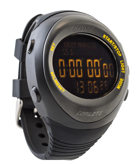 Fastime Copilote Rally Watch Black With Black display