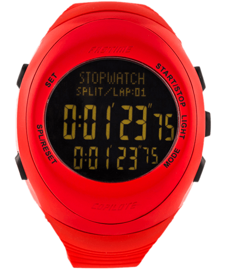 Fastime Copilote Rally Watch All Red with Black Display