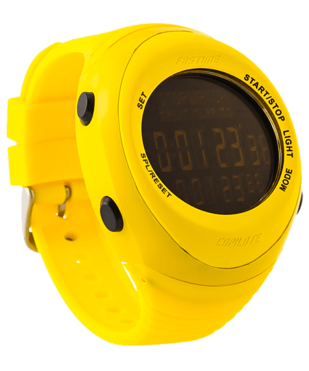 Fastime Copilote Rally Watch All Yellow with black display