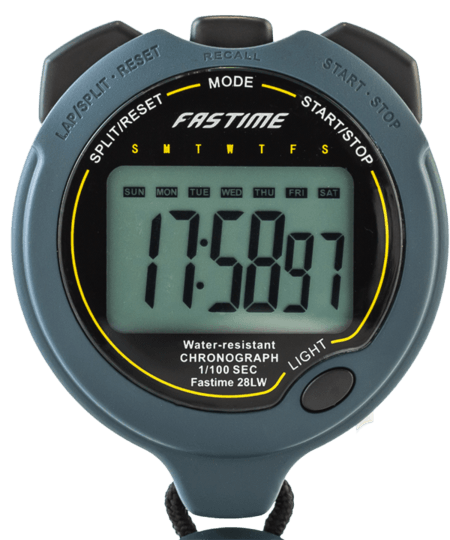 Professional Level Water Resistant Stopwatch. On Offer as No Light. Otherwise all other functions working.