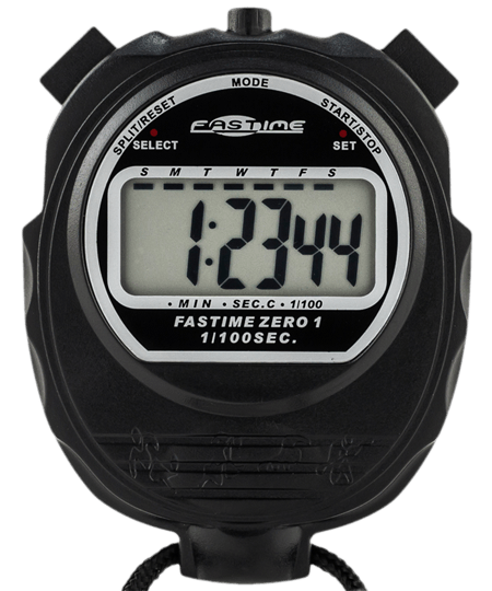 Economy single display stopwatch.