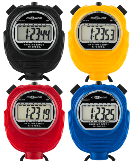 Pack of 4 Economy single display stopwatches