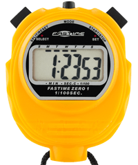 Fastime 01 - Yellow Promotional Stopwatch