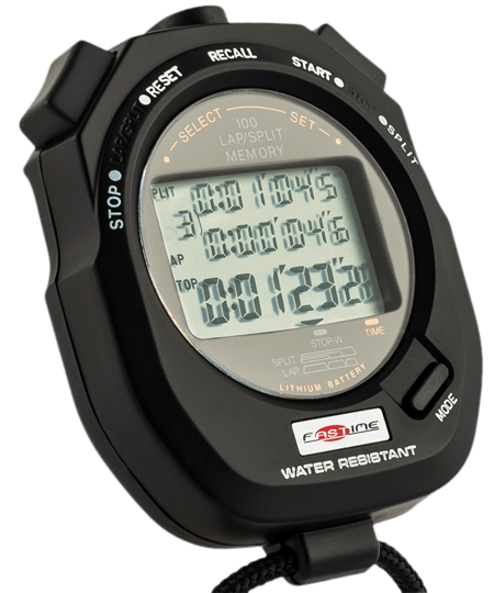 100 lap memory stopwatch for Motorsport and Circuit Racing