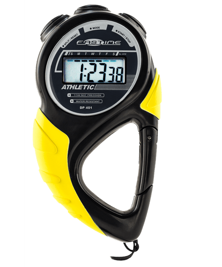 Stopwatch with carabiner clip