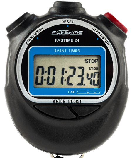 Large display single event stopwatch.