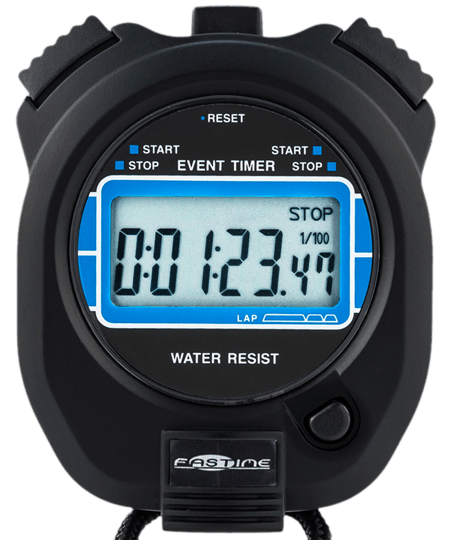 Professional quality large display event stopwatch.