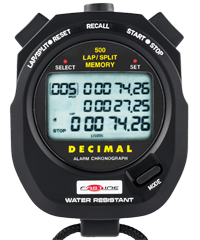 Stopwatch with Memory - Fastime 500DM - 500 Lap Segmented Memory