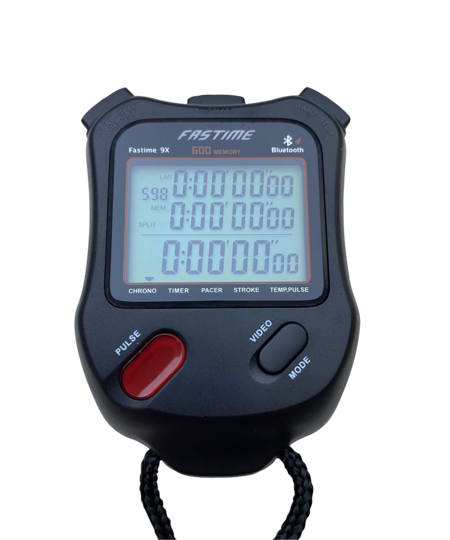 Professional level 100 lap memory stopwatch with stroke rate.