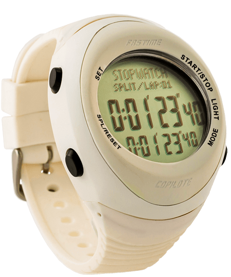 Fastime Copilote Rally Watch All White