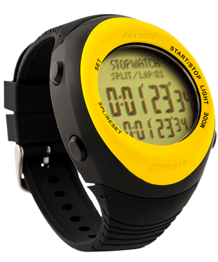 Fastime Copilote Rally Watch Yellow Bezel