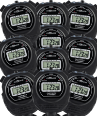 Pack of 10 Fastime 0 Economy Stopwatches